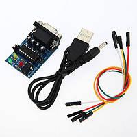 5Pcs Встроенный MAX232CPE чип RS232 TTL Модуль преобразователя с кабелями