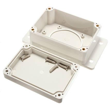 Белый пластиковый водонепроницаемый электронный корпус коробки КСП 100x68x50mm, фото 2