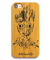 Деревянный чехол на Iphone 6 plus с лазерной гравировкой Грут