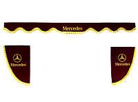 Шторки MERCEDES бордовые на лобовое и боковые стекла