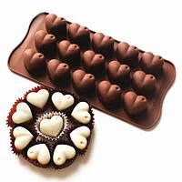 Сердце Шоколадный торт Маффин конфеты Jelly льда выпечки силикона прессформы