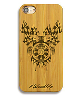 Деревянный чехол на Iphone 6 plus с лазерной гравировкой Start