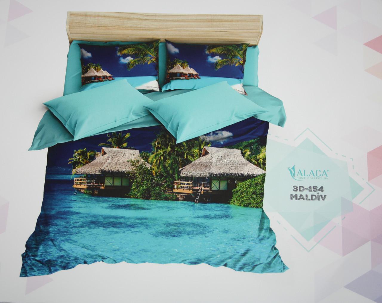Постельное белье полуторное ALACA 3D Maldiv