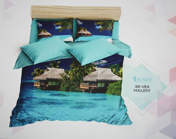 Постельное белье полуторное ALACA 3D Maldiv, фото 2