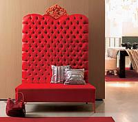 Диван-трон красный