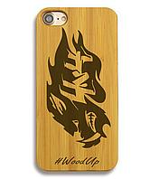 Деревянный чехол на Iphone 6 plus с лазерной гравировкой 4x4