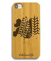Деревянный чехол на Iphone 6 plus с лазерной гравировкой Protector