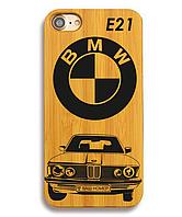 Деревянный чехол на Iphone 6 plus с лазерной гравировкой BME E21