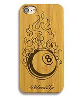 Деревянный чехол на Iphone 6 plus с лазерной гравировкой Billiard