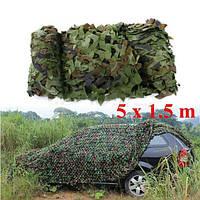 5mx1.5m лесной камуфляж камуфляж сеть для кемпинга военную Фото