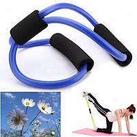 3X йога эспандеров пробки фитнес мышцы тренировка упражнения пробки 8 Тип синий