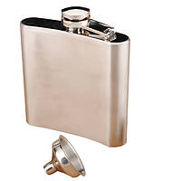 Модная фляга ликера виски кармана нержавеющей стали 6 унций на 6 унций с трубой