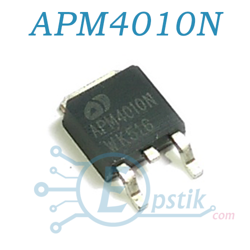 APM4010N, MOSFET транзистор, N канал, 40В 57А, TO252