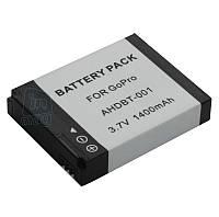 Аккумулятор AHDBT-001 / AHDBT-002 для  GoPro Hero 2 и GoPro Hero, 1400 mAh.