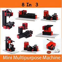 8 В 3 моторизованных мини-машинах Jigsaw Grinder Driller Wood Metal Lathe