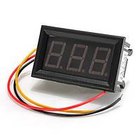 LED мини-0.56 дюйма вольтметр цифровой щитовой прибор постоянного тока 0-99.9 В 3 провода