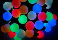 Уличная гирлянда шарики 4см , Лед 20 мультиколор К-56