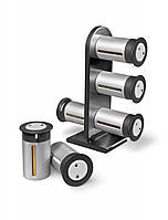 Набор Магнитная Подставка для Специй Zevgo Gravity Magnetic Spice Rack 6 Контейнеров