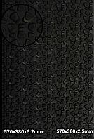 """Набоечная резина """"STRONG""""  380ммх570мм, толщина 6,2мм, цв. черный"""