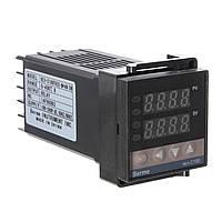 Двойной цифровой ПИД-контроль температуры контроллер термопары Рекс-с100