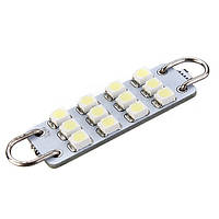 43мм 12 3528-SMD белый твердый цикла LED авто двери свет лампы