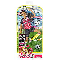 Кукла Barbie Безграничные движения Футболистка Брюнетка DVF68  FCX82, фото 1
