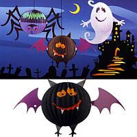 Смешные LED Хэллоуин летучей мыши фонарики бумажные лампы украшения дома и сада