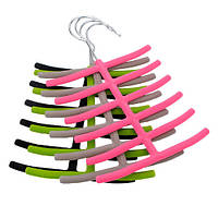1x шарфы галстук вешалка для одежды шкаф нескользящий держатель