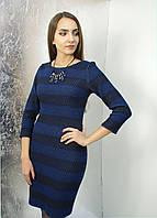 Платье- футляр с люрексом