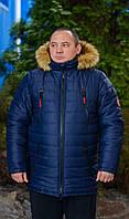 """Зимняя, Мужская Куртка больших размеров """"Альфа-Аляска"""".Коллекция """"2017-18 Arctic Ice""""."""
