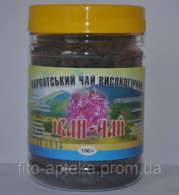 Иван-чай ферментированный с листьями малины +цветки(Карпатский высокогорный) 100грамм
