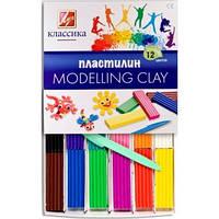 Пластилин детский MODELLING CLAY 12 цветов
