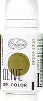 """Гелевый краситель """"CRIAMO MINI"""" Оливка 10 гр"""
