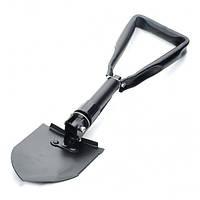 IPRee Открытый кемпинга Металл складные лопаты с мешком Черный Размер M