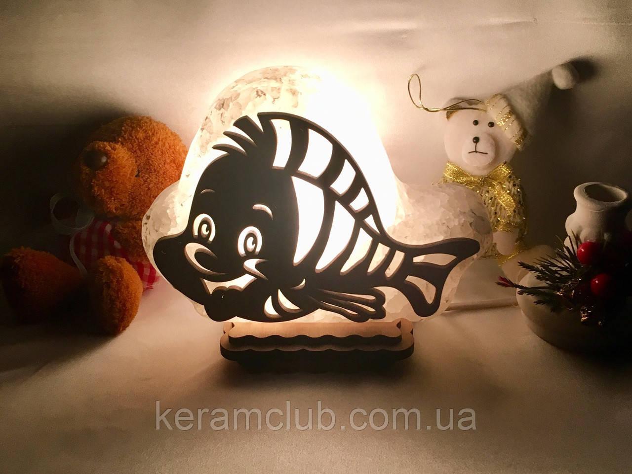 """Соляная лампа """"Рыбка"""""""