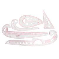 5 стилей Ясная французская кривая Метрическая линейка Измерение Швейная швейная фурнитура Шаблон Дизайн Инструмент Комплект