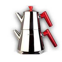 Двухъярусный чайник турецкий VIVALDI (чайник 1 л + заварник 0,4 л), фото 1