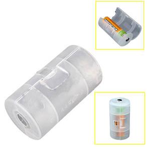 Полупрозрачные АА до размера D батареи адаптер держатель чехол, фото 2