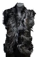 Жіноча натуральна жилетка з шкіри і овечої вовни