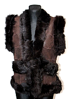 Жіноча тепла натуральна жилетка