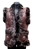 Жіноча натуральна жилетка Nebat (коричневого кольору)