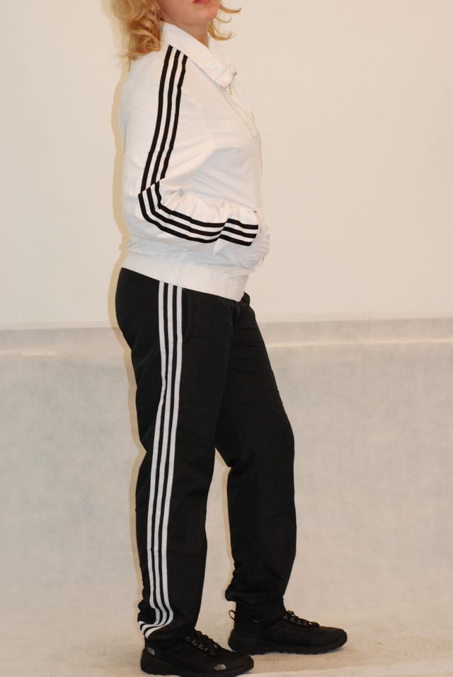 99a739de Женский спортивный костюм Adidas бело-черный (8189) код 119А, цена ...