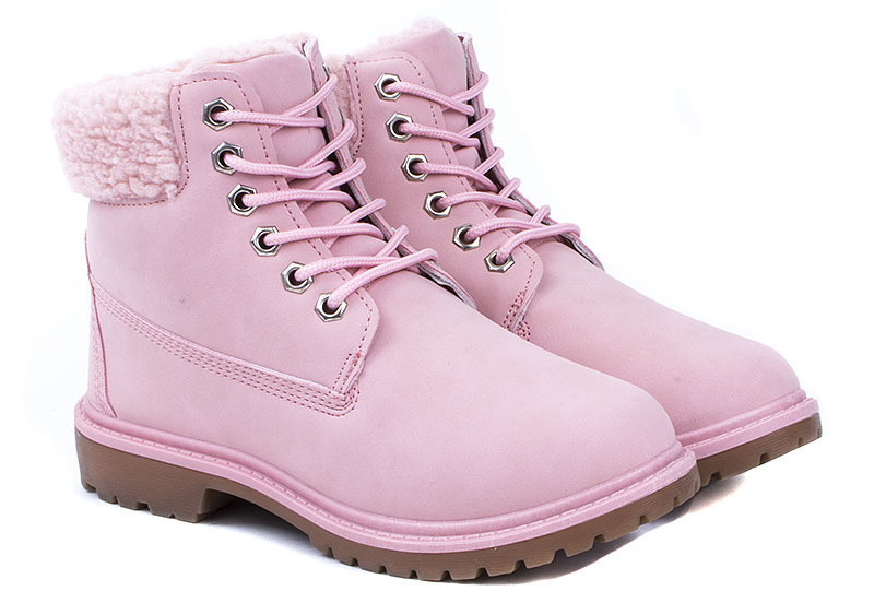 Женские ботинки Delgiudice RÓŻOWE