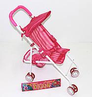 Коляска для куклы металл 9301LW  поворот.перед кол, 4 двойн кол, козырек, корзина для игруш, в пак46*25*55