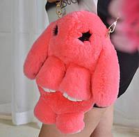 Кролик Рюкзак из натурального меха цвет Коралл, фото 1