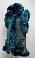 Жилетка из овечьей шерсти и натуральной кожи NEBAT