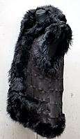 Жилетка женская из овечьей шерсти и натуральной кожи (классика)
