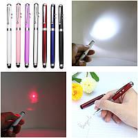 4 в 1 фунции лазер, фонарик, ручка, стилус 4-In-1