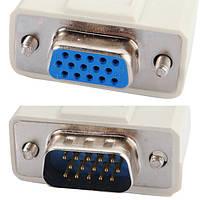 1 ПК на 2 VGA и SVGA монитор с Y Splitter кабель 15 PIN-кода привести