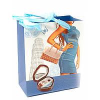 Подарочный пакет  Пиза (14х7х17 см)